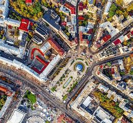 Крыши Киева из металлочерепицы